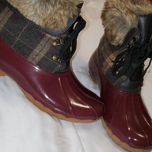 🦆Waterproof Duck boots with fur